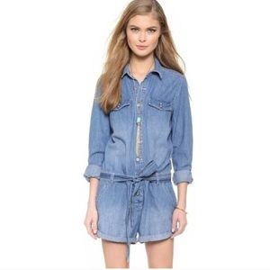 Free People Denim Playsuit
